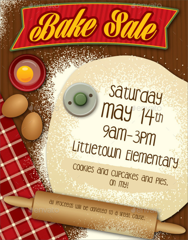 Bake Sale PSD Flyer Template