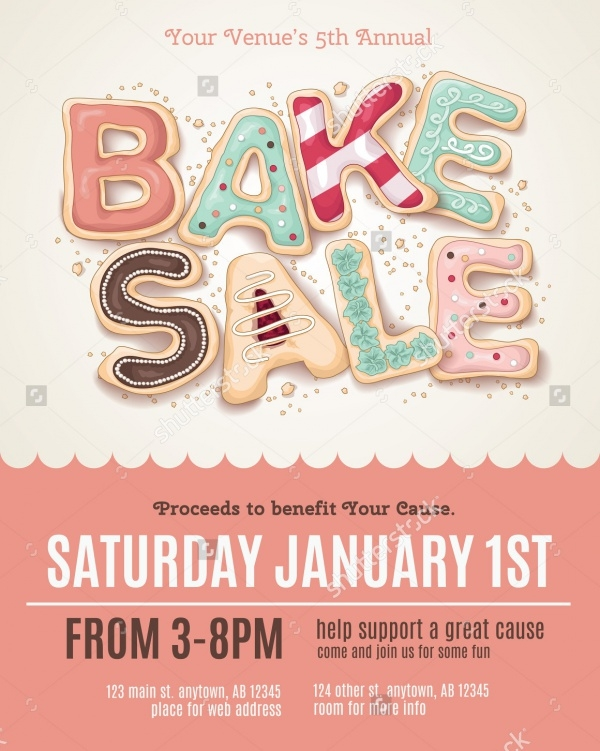 Bake Sale Realistic Flyer