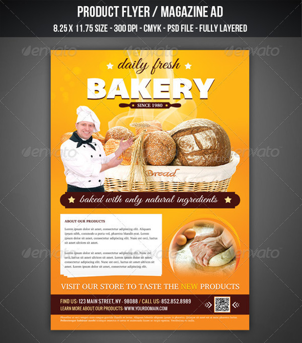 Bakery Flyer Magazine AD