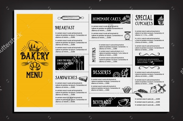 Bakery Menu DesignFlyers