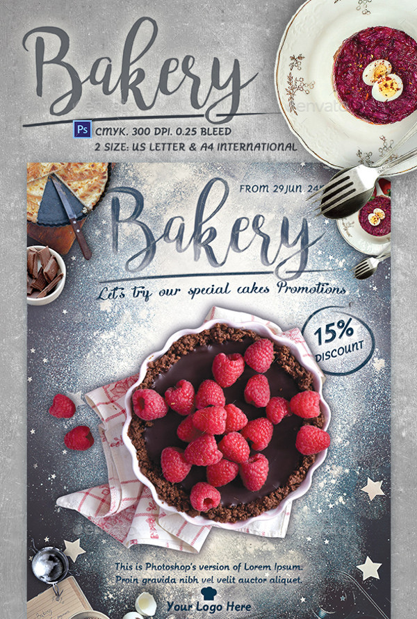 Bakery Promotional Flyer Design