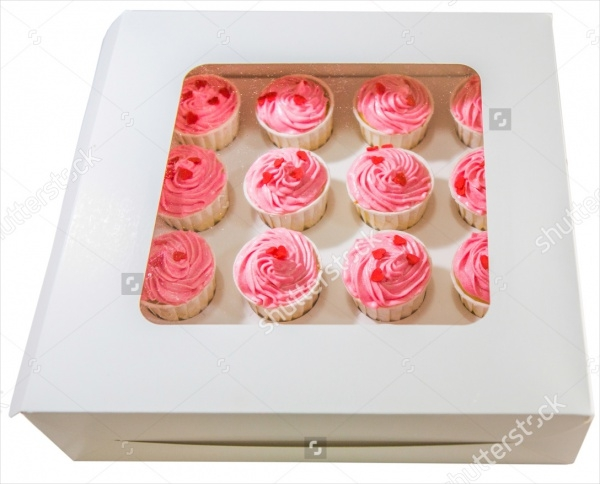 Bakery Red Cupcakes Packaging