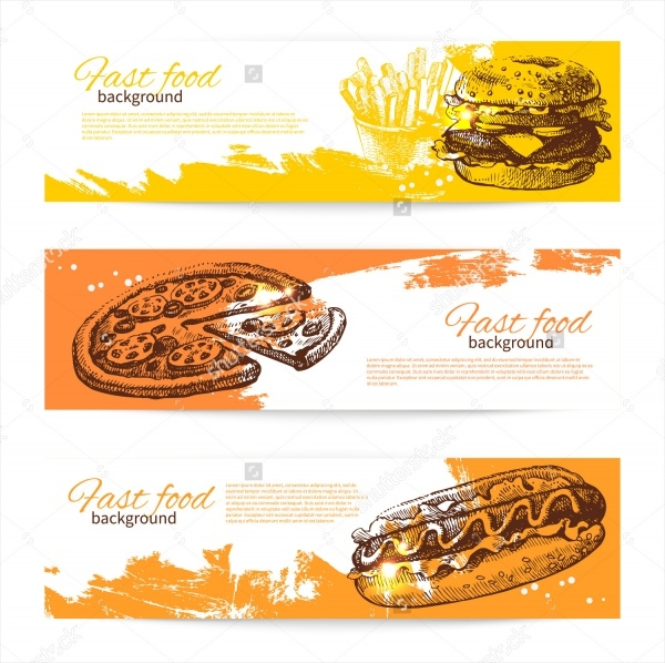 Banners of Fast Food Restaurant Design