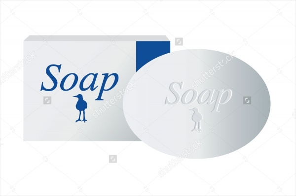 Bar of Soap With Soap Packaging