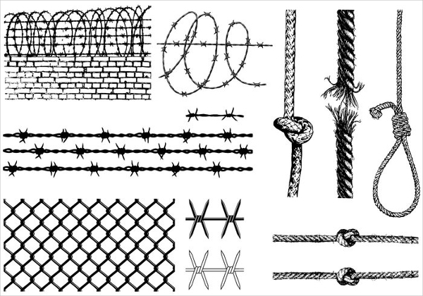 Barbed Wire and Ropes Brush Pack