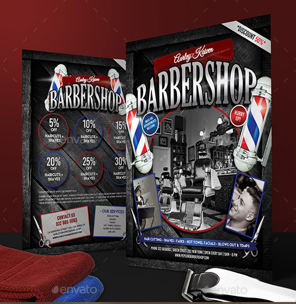 Barbershop Magazine Clippers Flyer