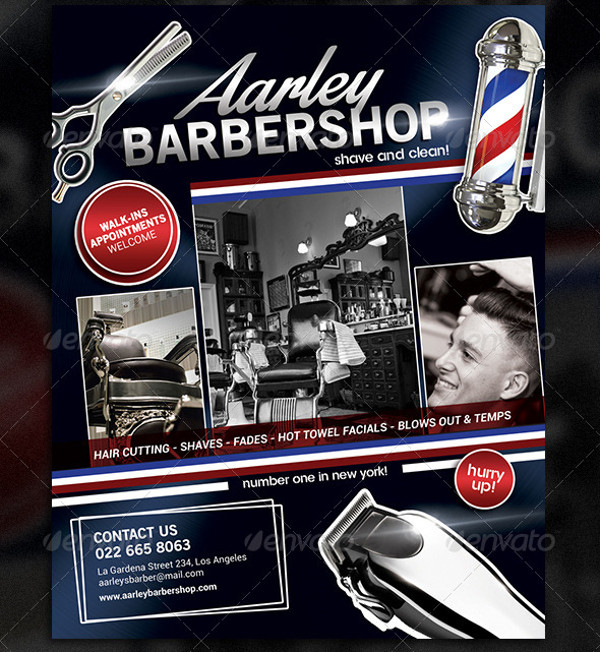 21  barbershop flyer templates