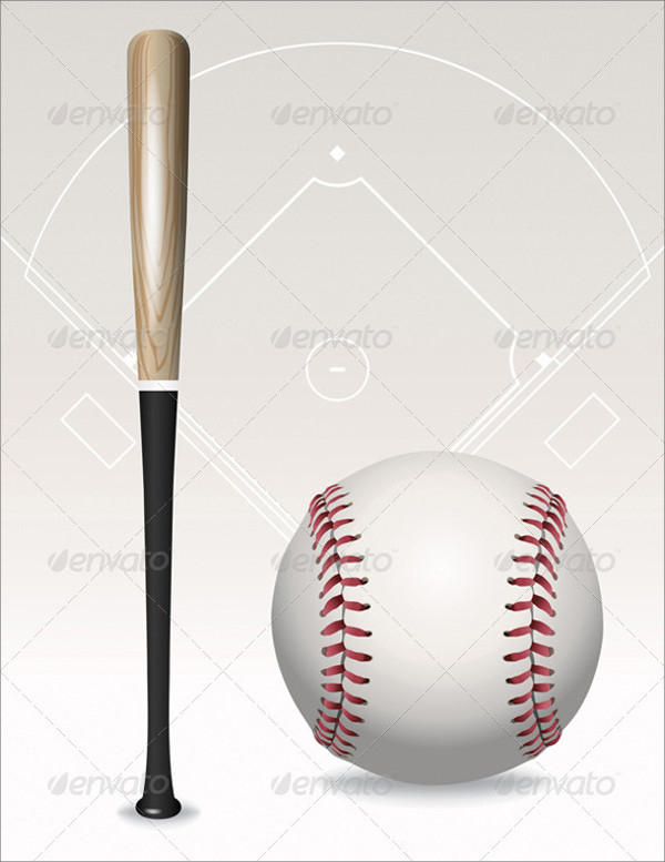 Baseball Bats and Balls Vector