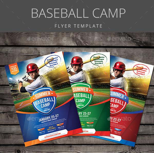 Baseball Camp Flyer
