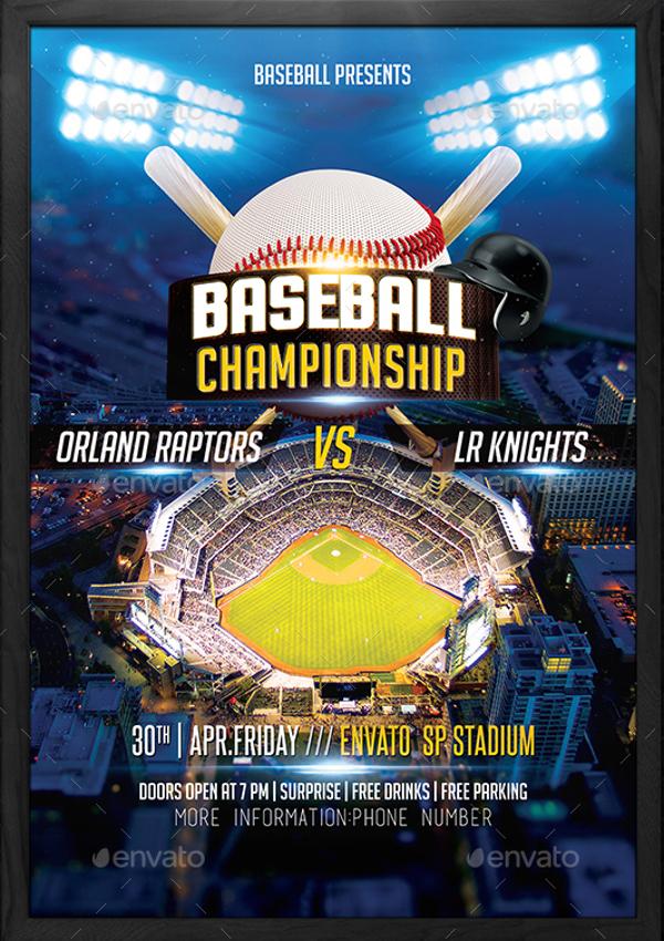 21  baseball flyers