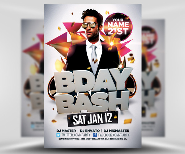 Bday Flyer Design Template