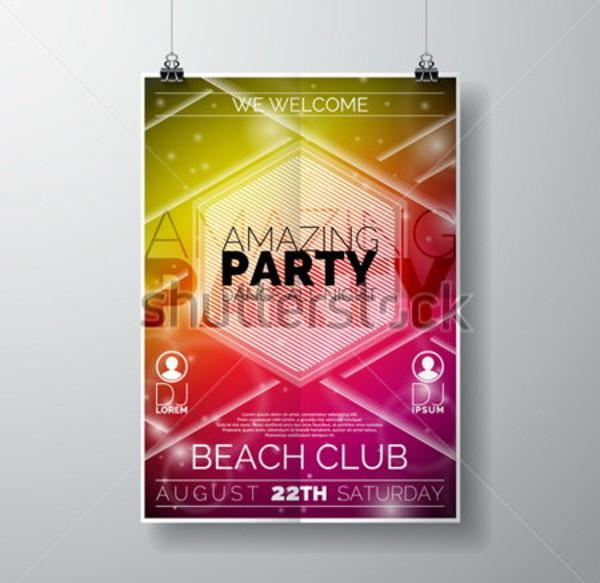 Beach Club Flyer Design