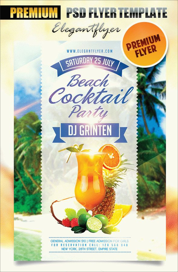 Beach Cocktail Party – Flyer PSD