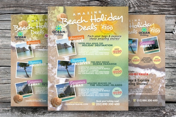 Beach Travel Flyer Design