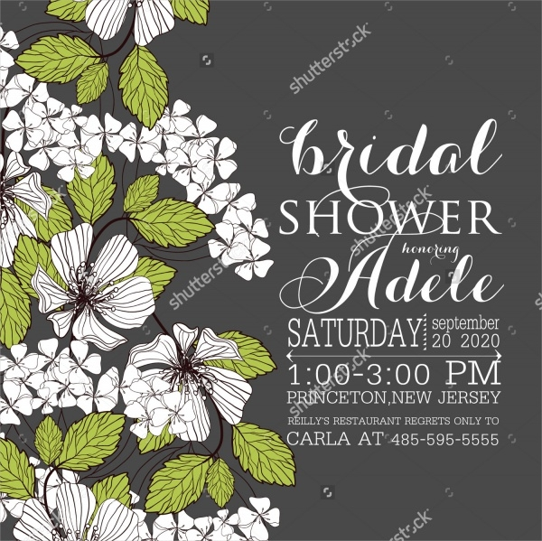 Beautiful Bridal Shower Invitation Card Template