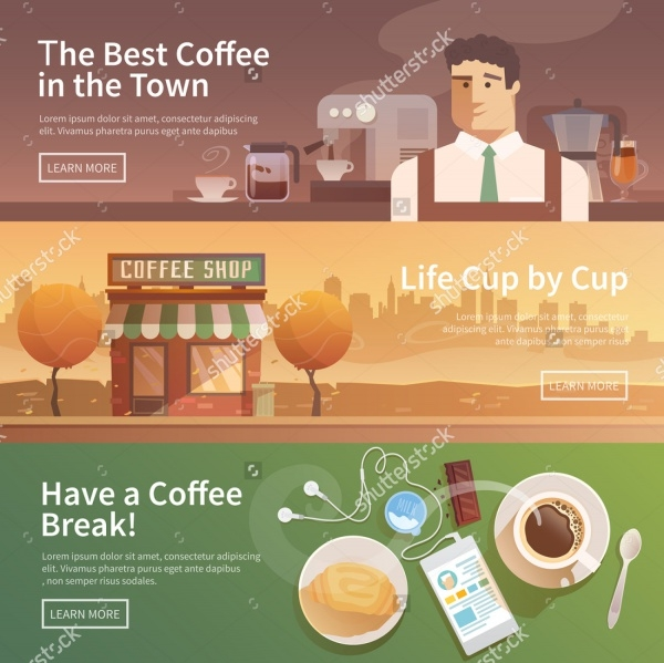 Beautiful Coffee Vector Banner Design