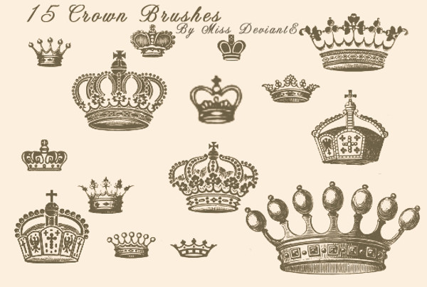 Beautiful Crown Brushes For Desktop