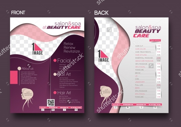 beauty care salon flyer