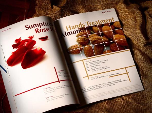 Beauty Health Magazine Layout Design