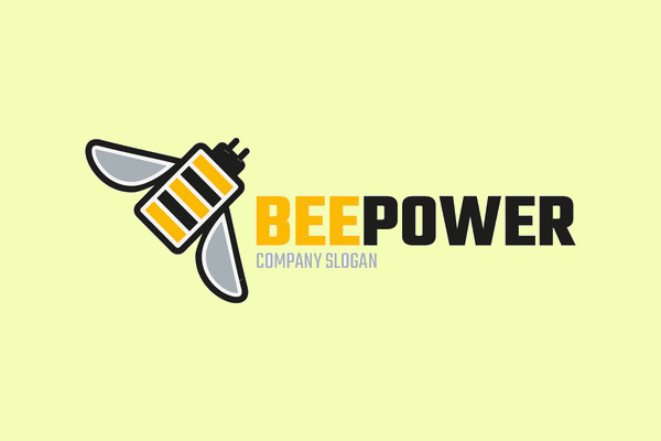 Bee Power Logo Template