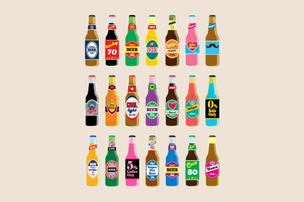 Beer Bottle Vector Set