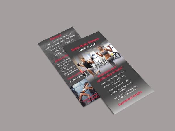 Better Body Fitness Marketing Flyer