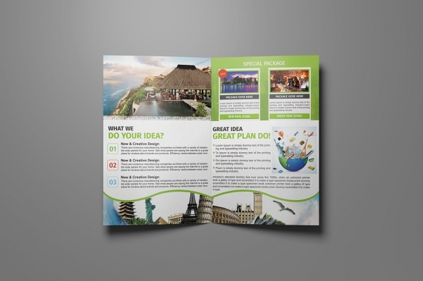 Bi Fold Holiday Brochure Design