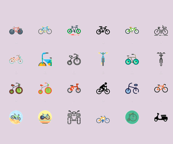 Bike Icons For desktop