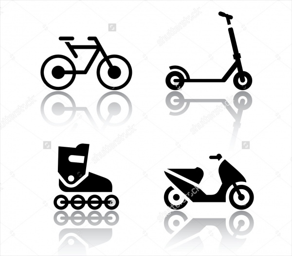 Bike Vector Flat Icons Set