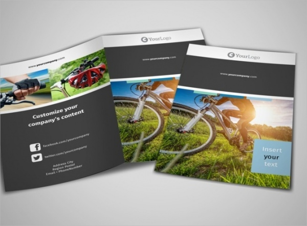 Biking & Cycling Bi-Fold Brochure Template