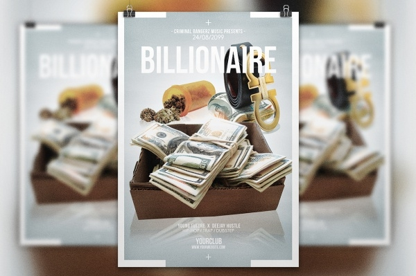 Billionaire Multipurpose Hip Hop Flyer