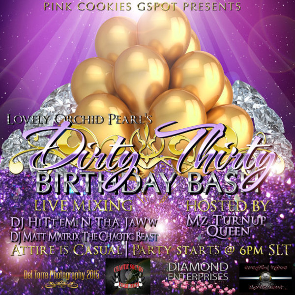 Birthday Announcement Party Flyer