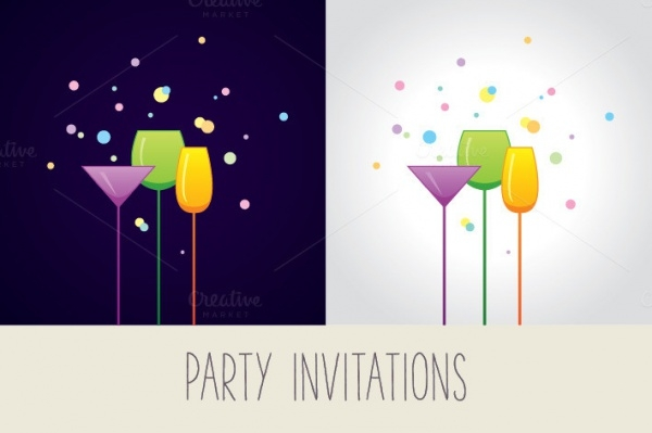 Birthday Cocktail Party Invitation Template