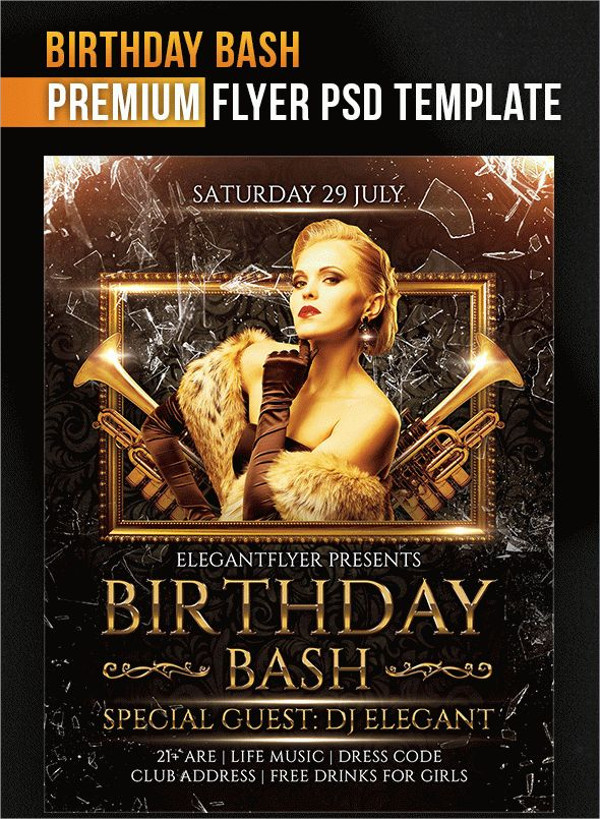 Birthday Flyer PSD Template