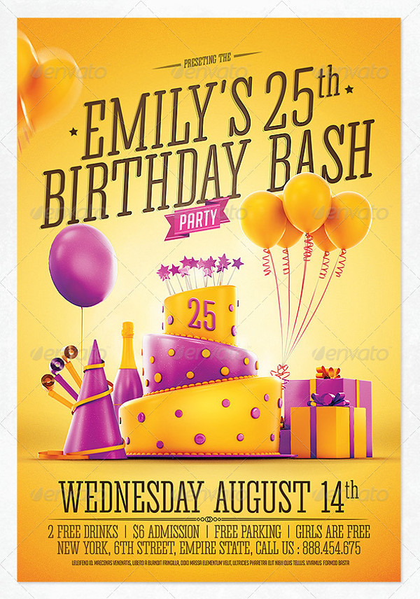 Birthday Invitation Flyer