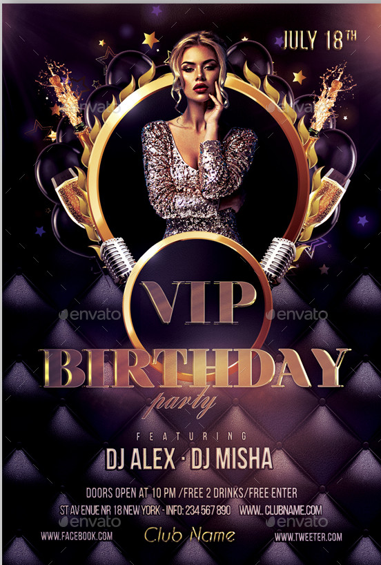 21+ Birthday Flyers - Psd, Vector Eps, Jpg Download |Free Creatives
