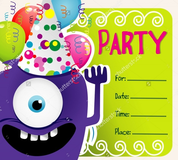 Birthday Party Vector Invitation
