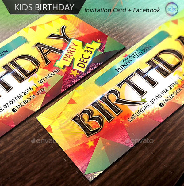 Birthday Timeline Invitation Card
