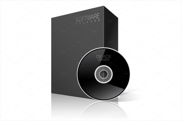 Black CD Package Cardboard Box