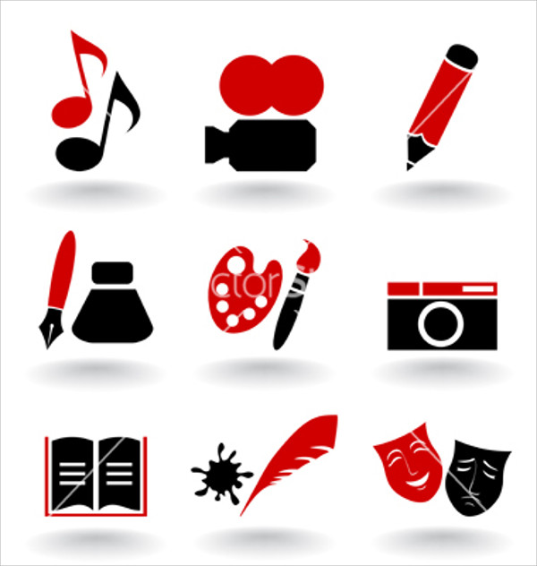 Black & Red Art icons