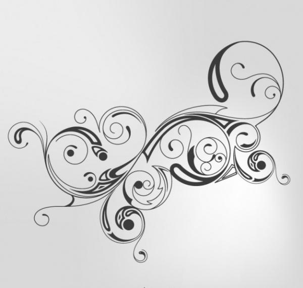 Black Swirls Graphic Vector