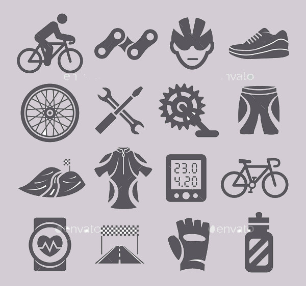 Black Vector Bike Icons