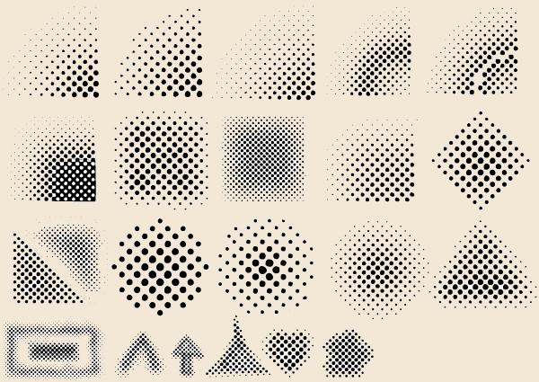 Black & White Halftone vector