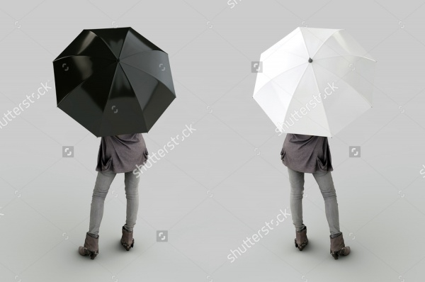 Black and White Umbrellas Mockup