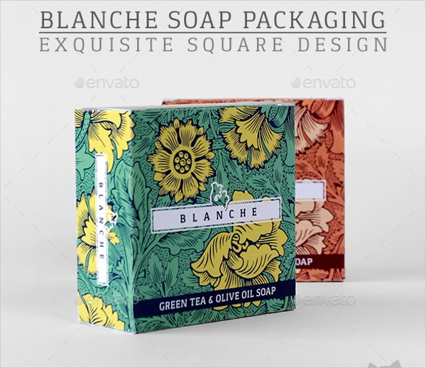 Blanche Soap Packaging Square Design