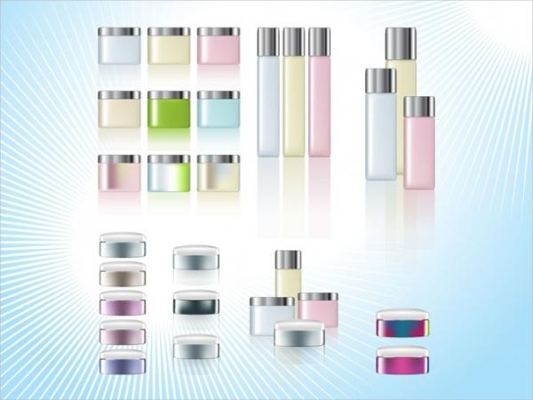 Blank Cosmetic Jars Packaging