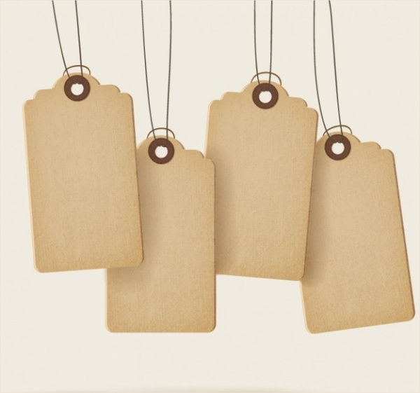 Blank Sale Price Tags with Texture
