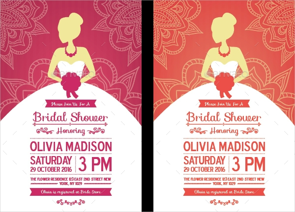 Bleed Resolution Bridal Shower Invitation