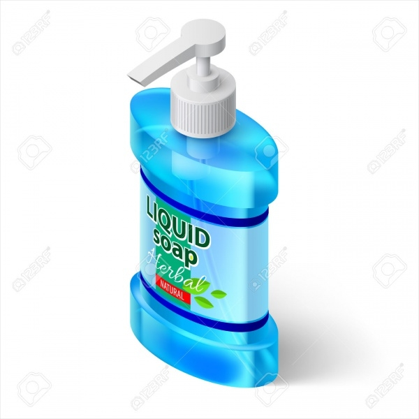 Blue Bottle Liquid Soap with Label