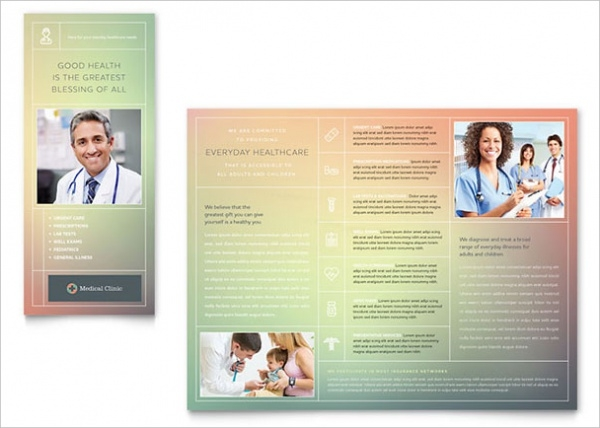 Blue Medical Clinic Brochure Template